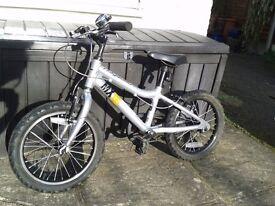"""16"""" silver Ridgeback MX 16 Terrain bike"""