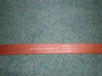 BANANA REPUBLIC Italian Leather Belt, XS, Brand New, Tan with Silver Buckle