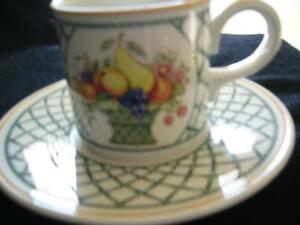 "VILLEROY & BOCH 1748 COFFEE/TEA CUP  & SAUCER ""BASKET"""