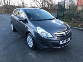 11 REG VAUXHALL CORSA 1.4 i 16V EXCLUSIVE 5DR-12 MONTH MOT-LOW MILES-LOOKS GREAT READY TO DRIVE AWAY
