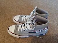 Converse grey high tops size UK 6. Hardly worn.