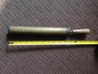 Antique brass hand pump