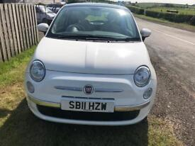 Fiat 500 lounge 2011 (11) plate white Panoramic Roof