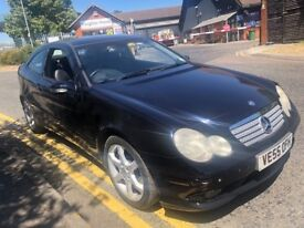 MERCEDES C CLASS C180 COUPE SPORT EDITION KOMPRESSOR 2005(55) FACELIFT NEW MO...