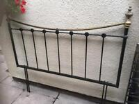 Black/brass headboard for king size bed. Great condition
