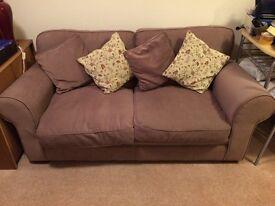 2 seater metal framed sofa bed.