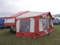 Folding Camper Pennine Pullman with awining 6 berth plus extras ready to go