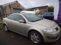 *P/EX TO CLEAR* RENAULT MEGANE PRIVILEGE CONVERTIBLE, ELECTRIC PANORAMIC ROOF, NO MOT, STARTS/DRIVES