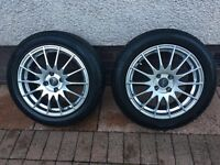 Four Nearly New Winter Runflat Tyres and Wheels
