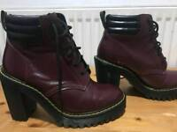DOC MARTENS persephone boots ox blood size 5