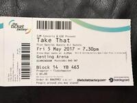 2 Take that tickets 5th may 2017 Birmingham