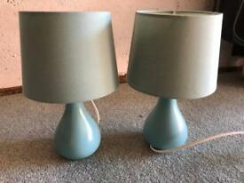 Bedside lamps x 2
