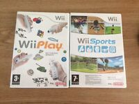 Wii play and wii sports