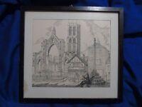 Howden Minster, Robinson Black/White Print, 1934