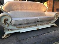 Quality luxury sofa and armchair silk upholstery