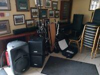 Full set of Dj equipment