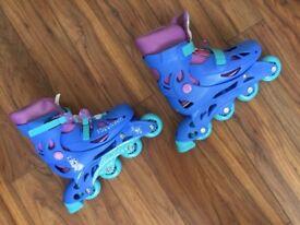 Brand new Frozen Roller blade/skates adjustable, sky blue tough skates. Unused No marks or scratches