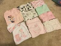 0-3 months baby girls vests and sleep suits