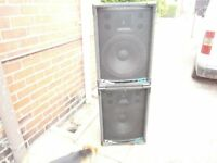 OHM disco/ speakers 300 watts a side good working order pick up only cash on pickup