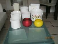 Collection of indoor plant pots - glazed ceramic