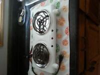 two (2) burner plug in appliance adjustable temperatures