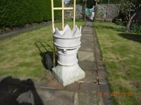 LARGE WHITE VICTORIAN CHIMNEY POT PLANT STAND, / OR?