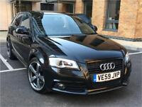 AUDI A3 S LINE BLACK EDITION 2.0 TDI SPORT BACK 5DR170 BHP REAR SPEC FULL LEATHERS SIMILAR TO GTI