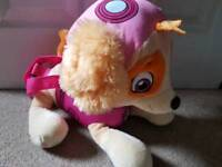 Skye from paw patrol bag / large toy