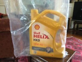 2 x 5 Litres Shell Helix HX5 15W-40 Engine Oil