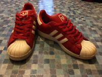 Retro Adidas Shell Toe - Bright Red / Blood Red - Size 10.5