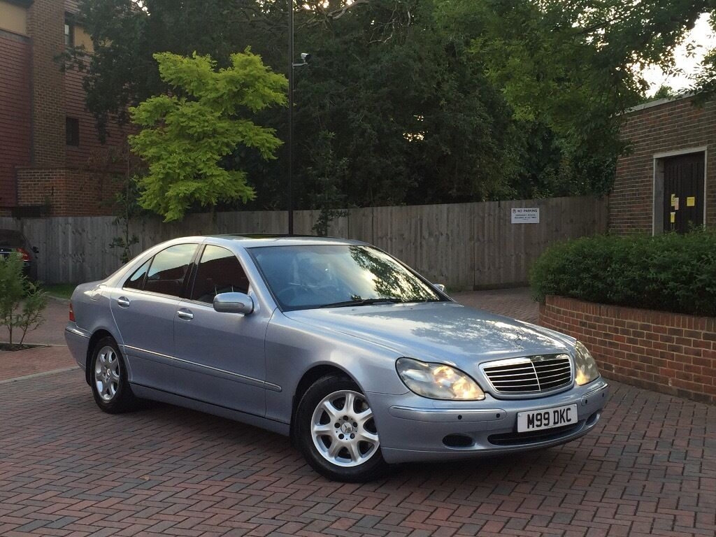 2002 MERCEDES S CLASS S320 CDI AUTO SAT NAV BLACK LEATHER DRIVES PERFECT IN  EXCELLENT CONDITION