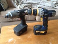 wireless drill and torque gun, with chargers, working