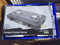 Camping double burner stove. NEW