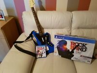 Ps4 guitar hero inclueds the guitar game and all boxed like new my as go xbox now