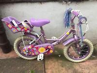 """Apollo Sweetpea Purple and Pink Girls Bike - 14"""""""