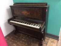 Beautiful but broken, old piano available for collection only