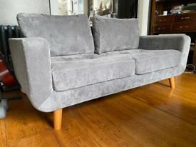 Grey 3 Seater Sofa - Honey Pot