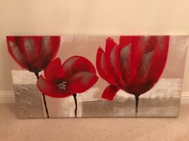 Red canvas paintings