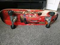 Skateboard lighting McQueen