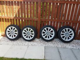 BMW Genuine 18 alloy wheels with run flat tyres 245/45/18