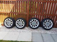 BMW Genuine 18 alloy wheels with run flat tyres 245/45/18