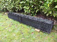 Garden trough, black wrought iron