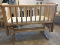 Mothercare Gliding Crib AND Mattress perfect condition