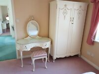 Bedroom suite white French Louis XV style Olympus Furniture Walnut Cabinet