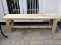 New handmade garden bench