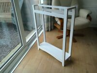 freestanding towel rail, white.