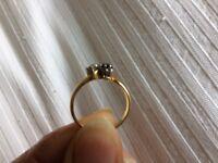 18 carat gold Diamond and Sapphire ring