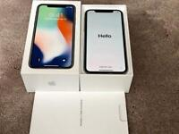 IPHONE X 256gb SILVER, FACTORY UNLOCKED, 2 MONTHS OLD BOXED IN PRISTINE CONDITION rrp £1149