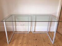 elegant glass top desk or table