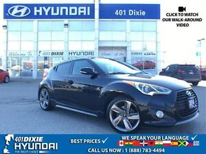 2014 Hyundai Veloster TURBO|6-SPEED MANUAL|BACK-UP CAM|NAVI|HTD